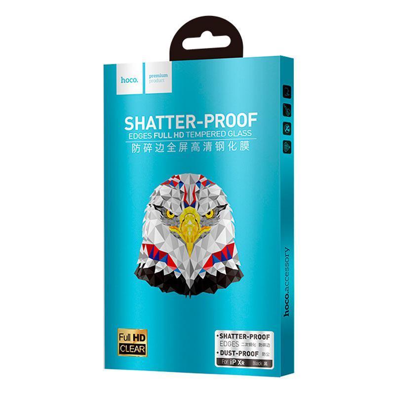 Защитное стекло Hoco Shatterproof Edge Full Screen HD Glass iPhone XR/11 (A1) Black