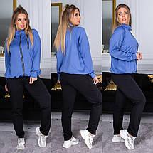"""Спортивный женский костюм дайвинг """"Eline"""" с карманами (большие размеры), фото 3"""