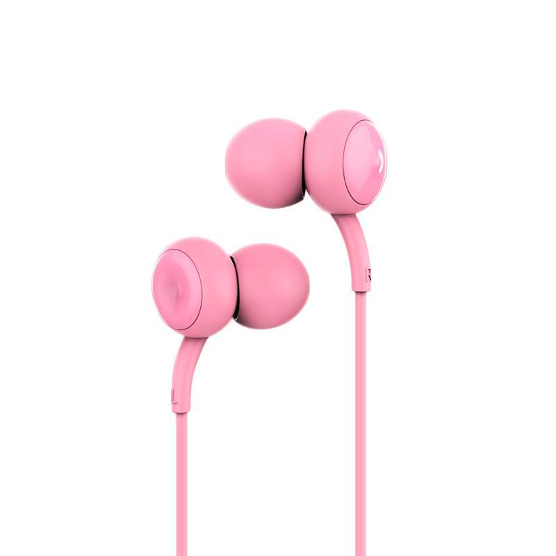 HF Remax RM-510 Pink (mic + button call answering)
