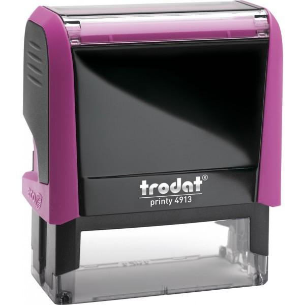 Оснастка для штампа пластиковая прямоугольная Trodat Printy 4913 58х22 мм фиолетовая