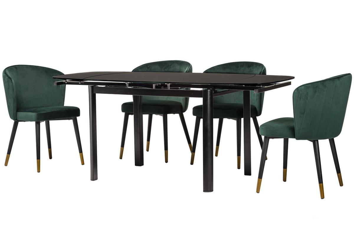 Стол Т-600 (Черный мат) 1200(+600)*800