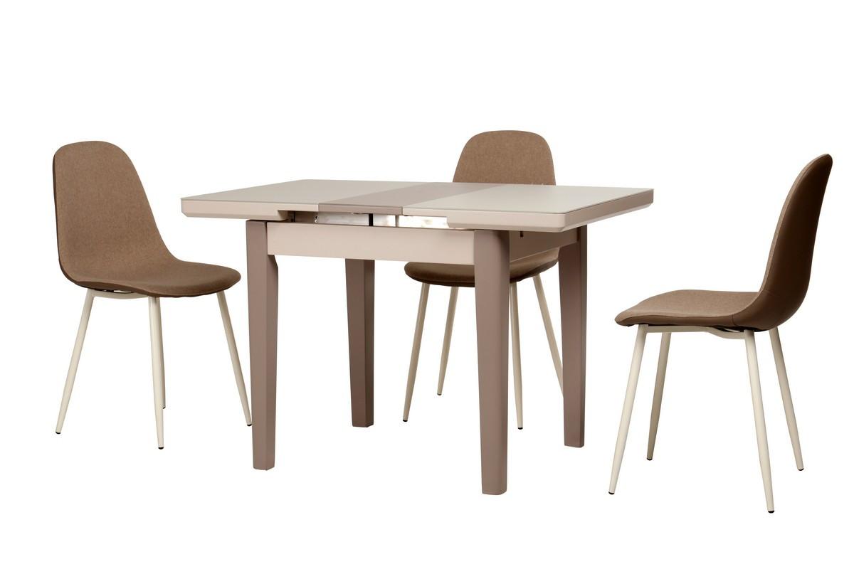 Стол ТМ-79 (Капучино - Латте мат) 900(+250)*700
