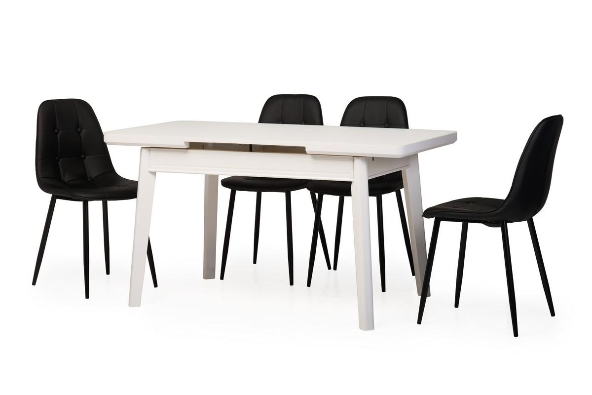 Стол ТМ-73 (Белый мат) 1100(+300)*700