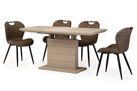 Стол ТММ-50-2 (Капучино мат) 1100(+400)*700, фото 2