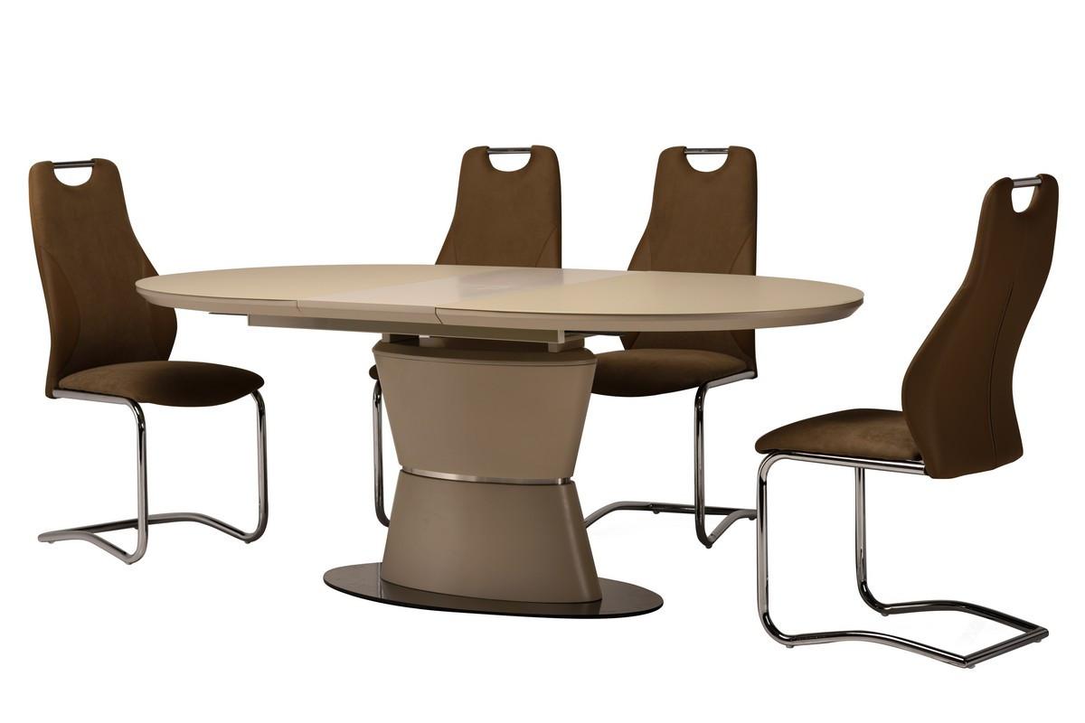 Стол ТМL-755 (Капучино мат) 1600(+400)*900
