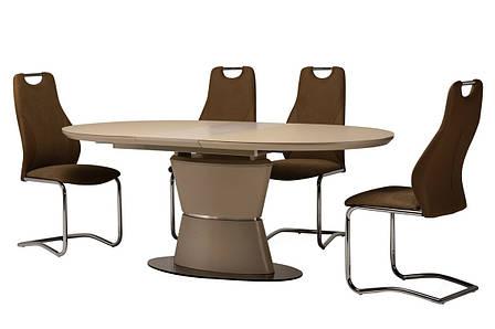 Стол ТМL-755 (Капучино мат) 1600(+400)*900, фото 2
