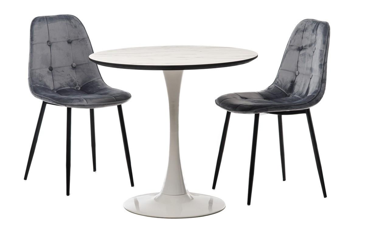 Стол Т-318 (Мрамор+Белый)