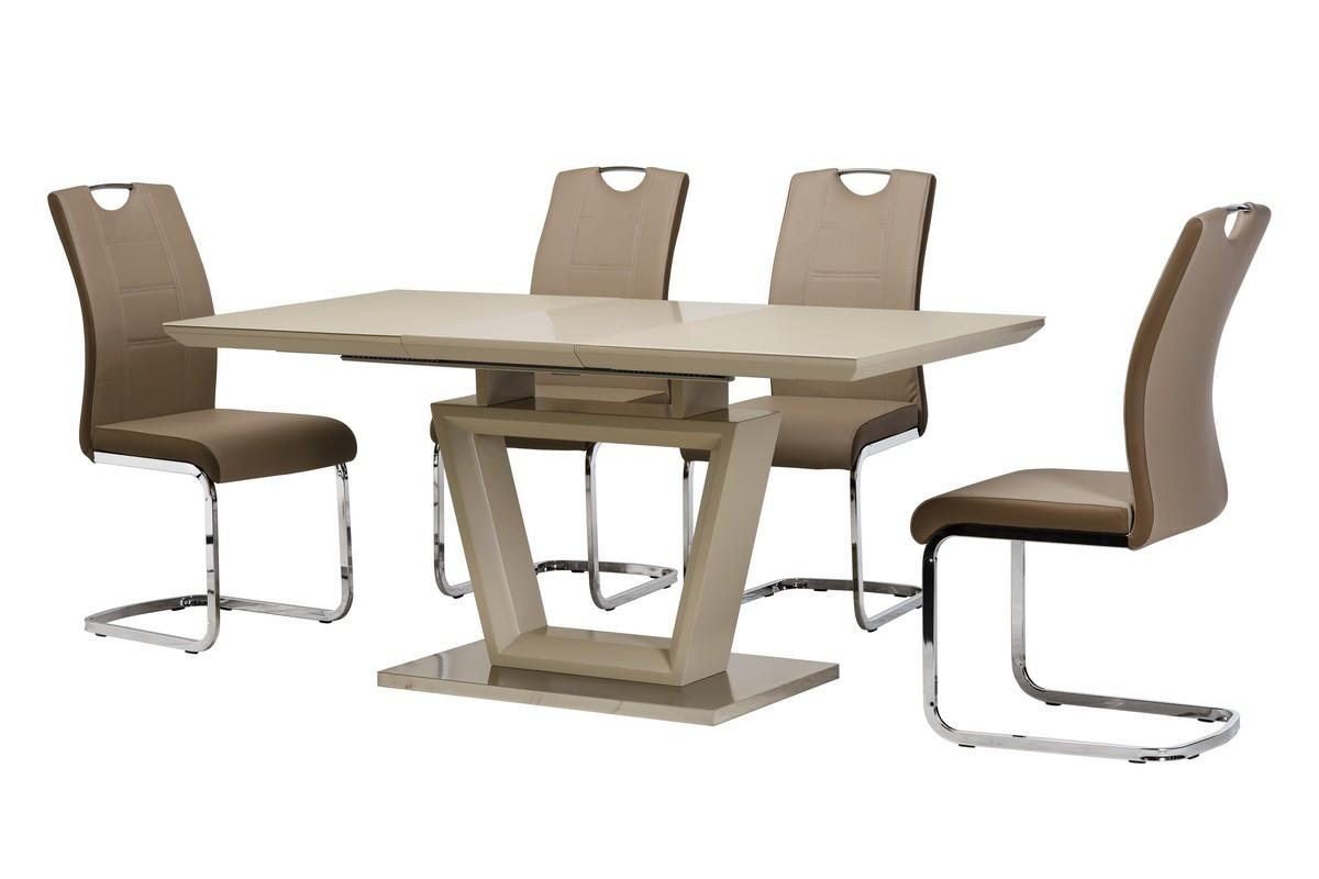 Стол ТММ-51-1 (Капучино мат) 1200(+400)*800