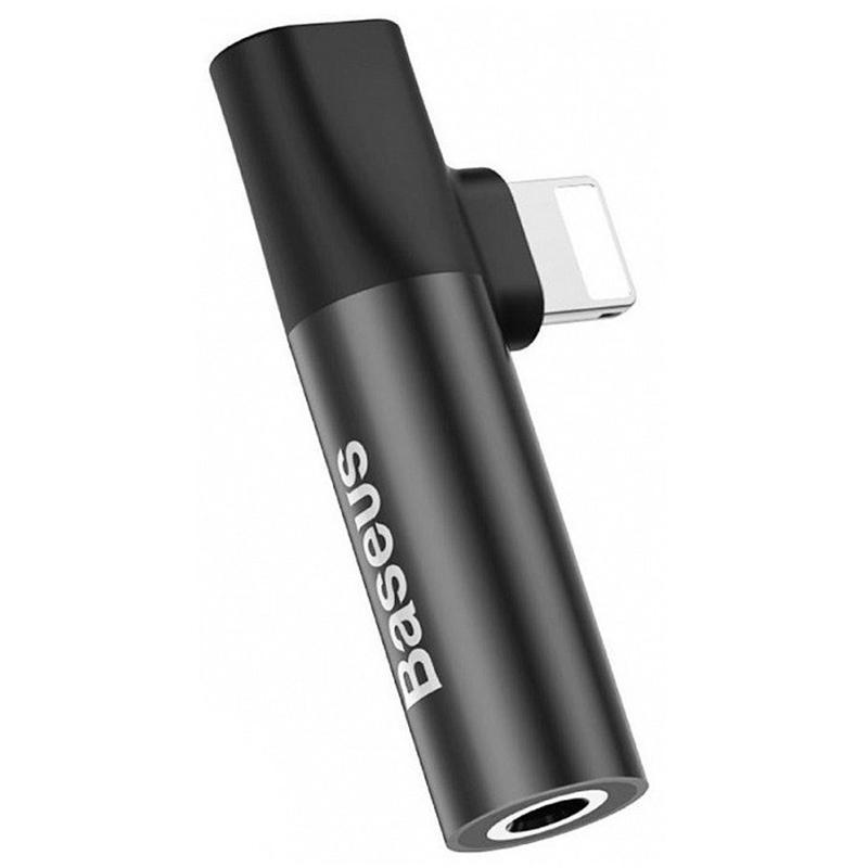 Adapter Baseus L43 Lightning Male to 3.5mm+Lightning Female