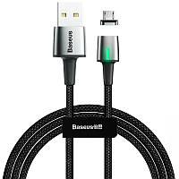 Кабель USB Baseus Zinc Fabric Magnetic MicroUSB (CAMXC-B01) Black 2m