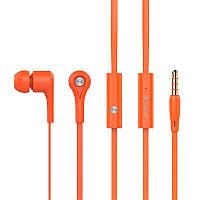 Наушники MP3 Celebrat D3 Orange + mic + button call answering