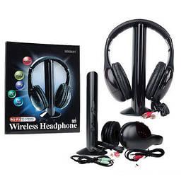 Бездротові навушники з Мікрофоном MH2001 5 в 1 + FM радіо DC-2001