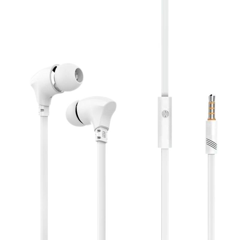 Наушники MP3 Celebrat G3 White + mic + button call answering