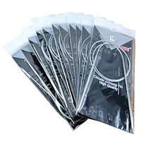 Набор из 11 круговых спиц на леске для вязания 1.5-5мм 80см сталь