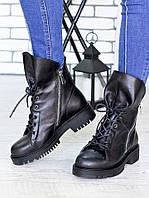 Ботинки женские Angelina черная кожа - комфортная модная качественная обувь 60 дней гарантия от производителя