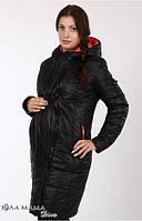 Куртка для беременных зимняя Kristin черная-малина-С
