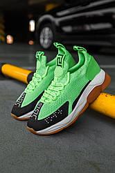 Женские кроссовки Versace Crоss Chainer Green Neon (зеленые)
