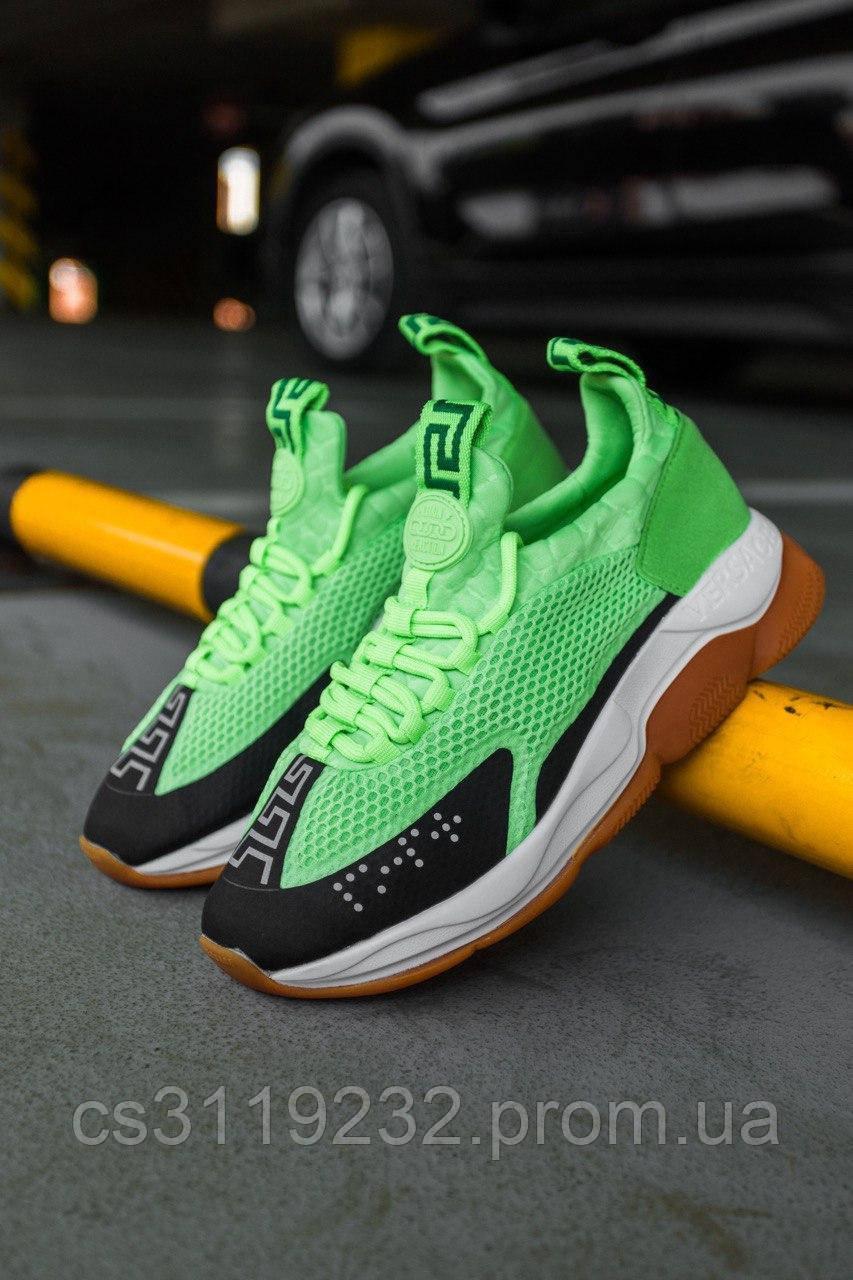 Жіночі кросівки Versace Сгоѕѕ Chainer Neon Green (зелені)