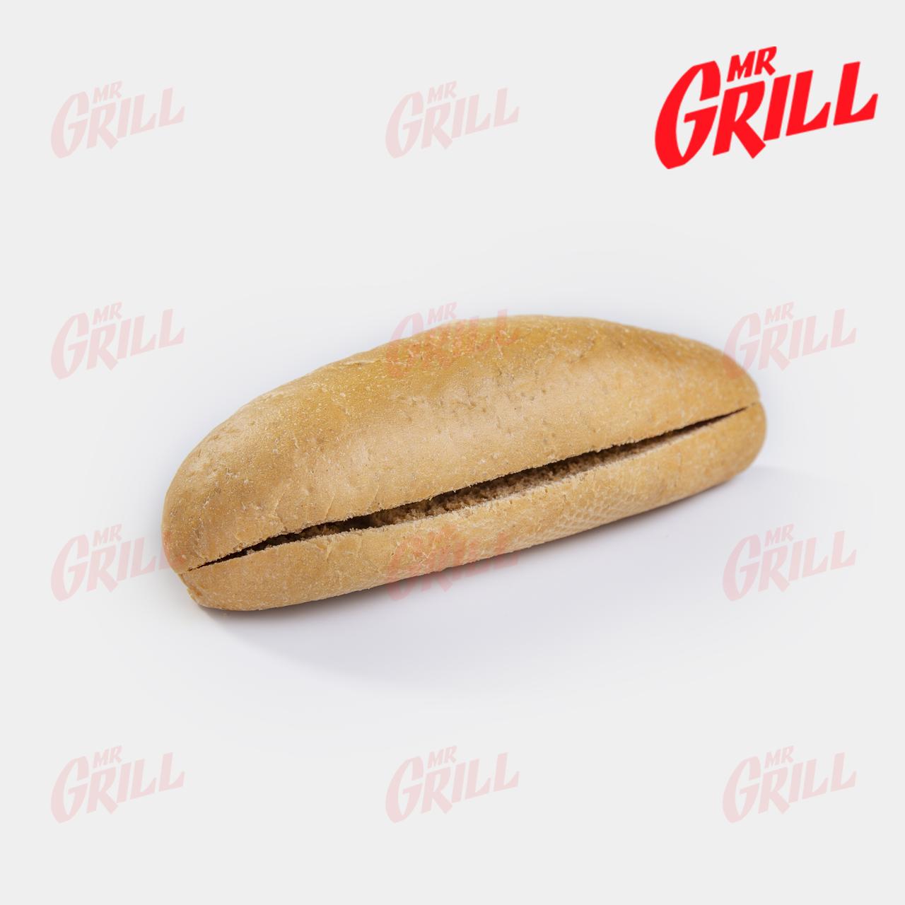 Булочка для американского хот дога с разрезом серая