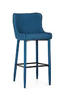 Барный стул В-120 (ткань, Синий)