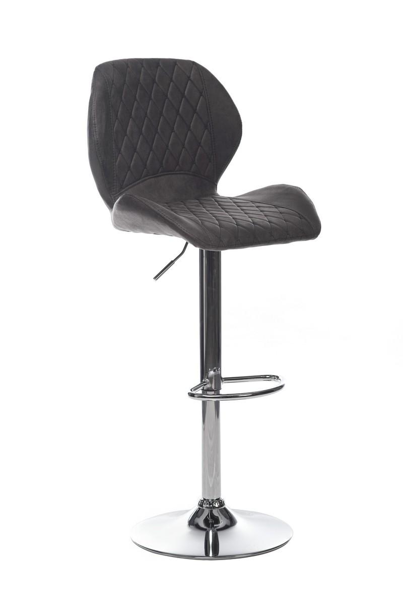 Барный стул В-11 (нубук, Серый)