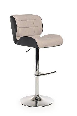 Барный стул В-75 (ткань/эко.кожа, Серый/Черный), фото 2