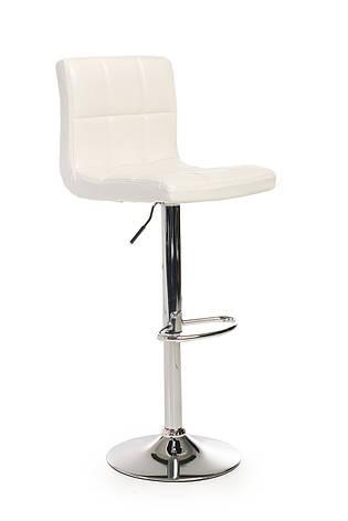 Барний стілець В-40 (еко.шкіра, Білий), фото 2