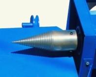 Конус дровокола винтовой для измельчителя (внешний диаметр 80 мм, внутренний 30 мм)