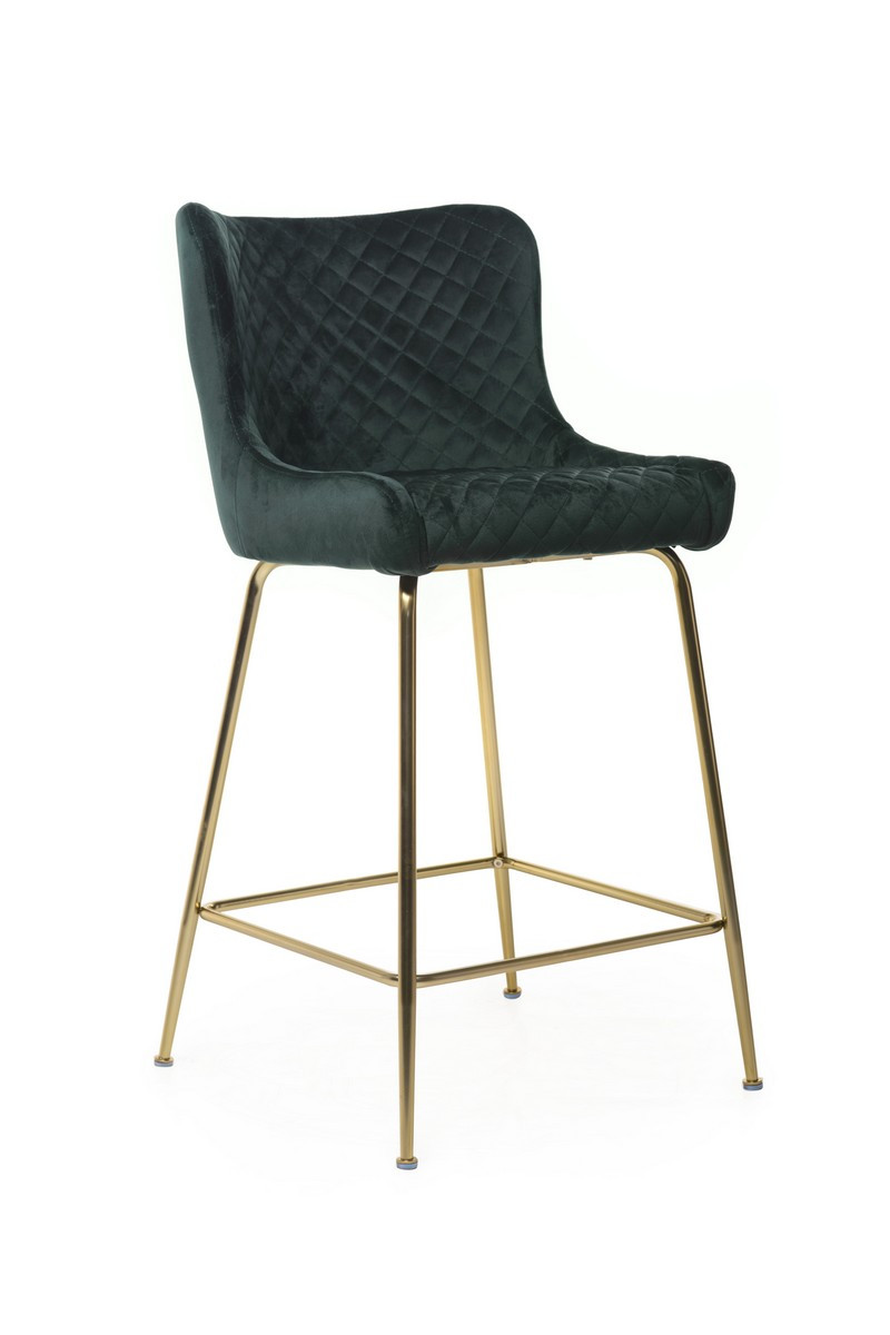 Барный стул В-120-2 (ткань, Изумрудный Вельвет)