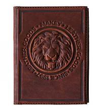 "Обложка на паспорт кожаная ""Royal"" (Makey)"