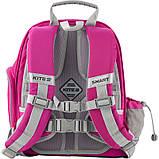 Рюкзак шкільний каркасний Kite Education К19-720S-1 Smart рожевий, фото 3
