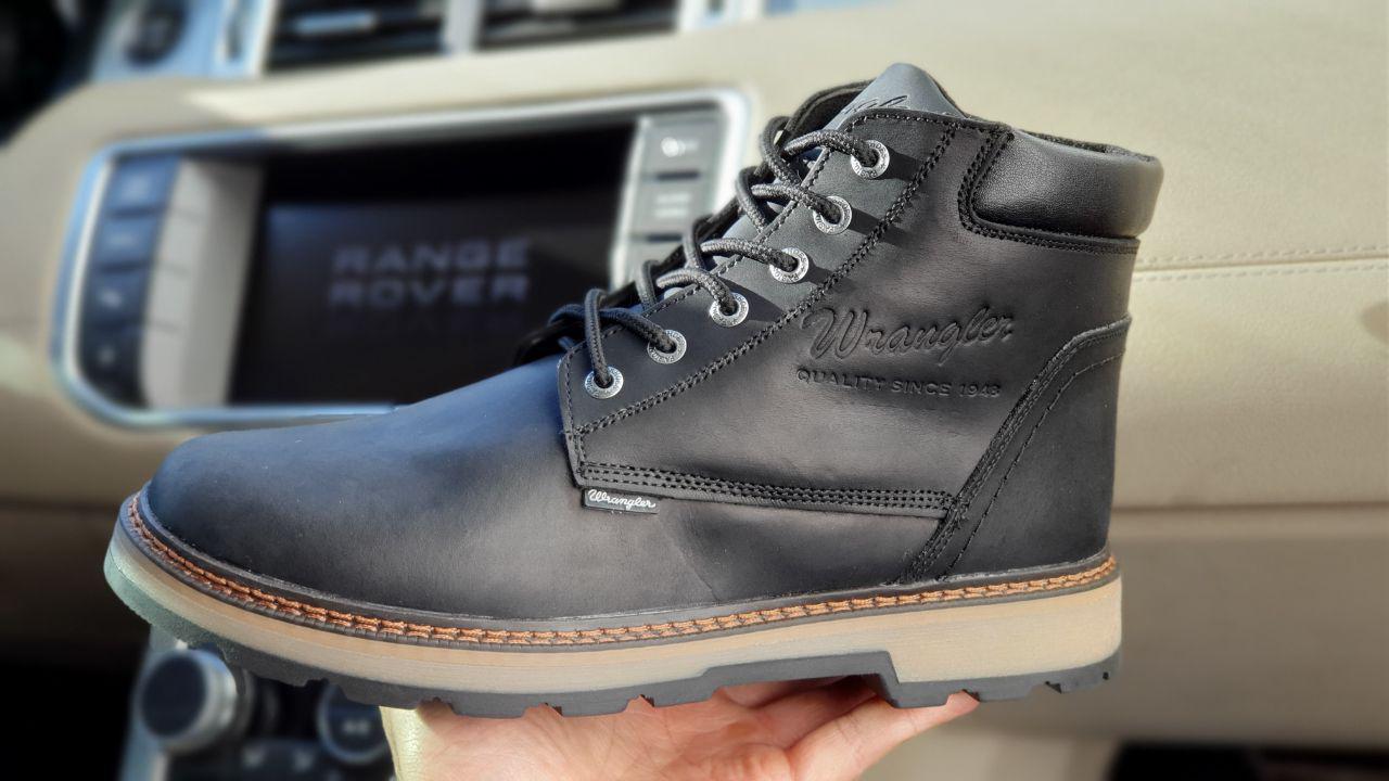 Зимние мужские ботинки 31091, Wrangler New Trendf, черные ( 40 41  )