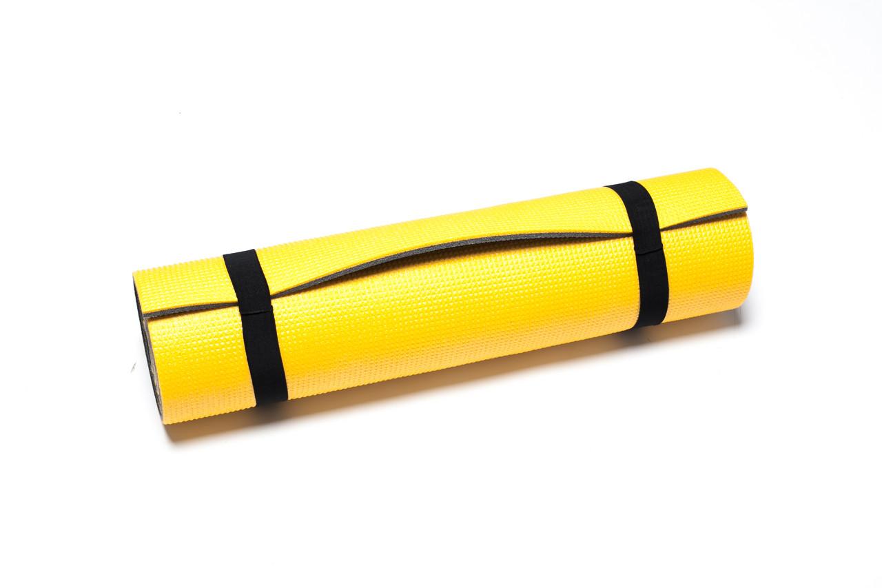 Коврик для занятий фитнесом Verdani Атлетика 1800х600х9 мм Желтый