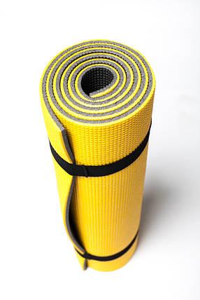 Коврик для занятий фитнесом Verdani Атлетика 1800х600х9 мм Желтый, фото 2