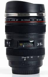 Термокружка у вигляді об'єктива Canon 24-105M c міксером