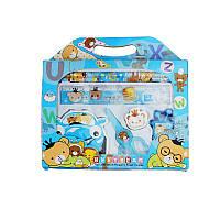 Канцелярский набор для дошкольников 7 предметов, цвет голубой, фото 1