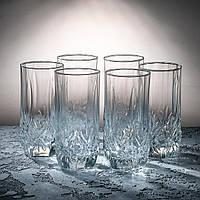 """Набор высоких стаканов 285 мл """"Снежинка"""" 6 шт.ПУ"""