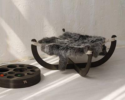 КІТ-ПЕС by smartwood Лежанка для кота кота Лежак для кішки кота Спальне місце