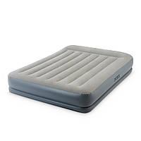 Надувная двухспальная кровать Intex 64118 со встроенным электронасосом 152-203-30см