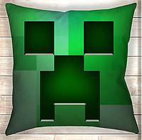 Подушка Minecraft Creeper Logo