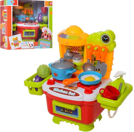 Игровой детский набор кухня.Детская интерактивная кухня.Игрушка кухня. Оранжево- красный