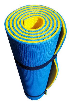 Каремат туристический Verdani Турист 1800х600х10 мм Сине-желтый, фото 2