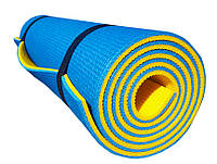 Каремат туристический Verdani Турист 1800х600х10 мм Сине-желтый