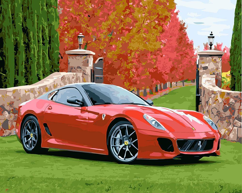 Картина по номерам Феррари 458 italia GX23758 40x50см. Brushme