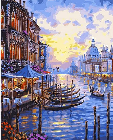 Картина по номерам Венецианский пейзаж GX30326 40x50см. Brushme, фото 2