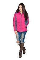 Куртка демисезонная женская Спорт  Мари малина/серый (42-52)