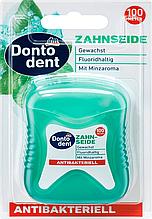 Зубная нить антибактериальная  Dontodent Zahnseide antibakteriell 100м