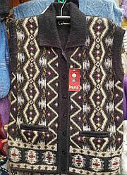 Шерстяная жилетка «Nagpal» на пуговицах с отложным воротником  (Индия)