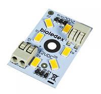 Модуль светодиодный Bioledex 40х25мм 12VDC 3Вт 300Лм 5000К, алюминиевый корпус
