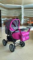 Детская коляска - трансформер Viki Karina (Карина) С12 - серый - розовый
